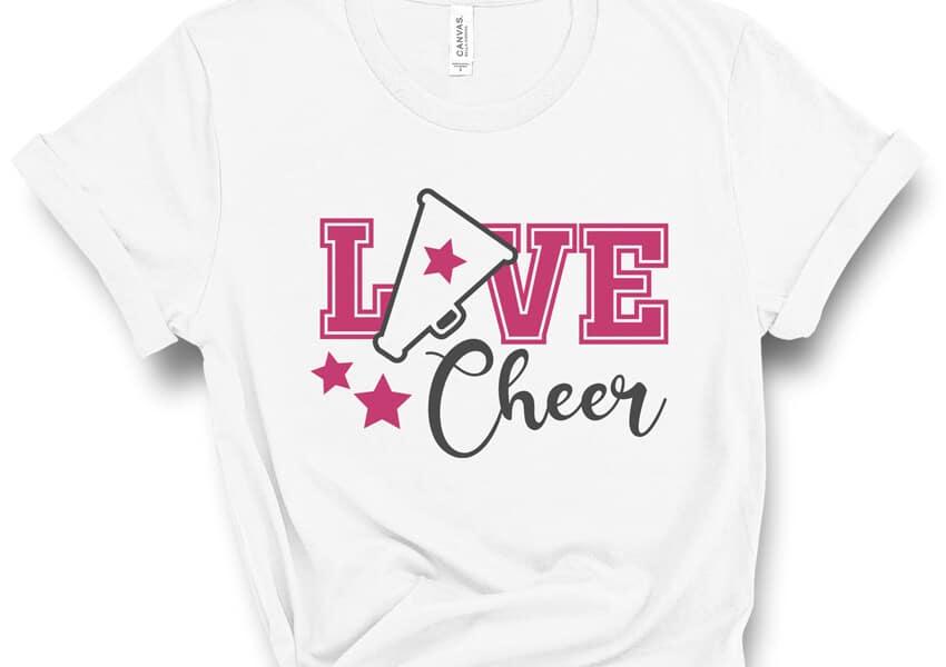 Love Cheer Free SVG