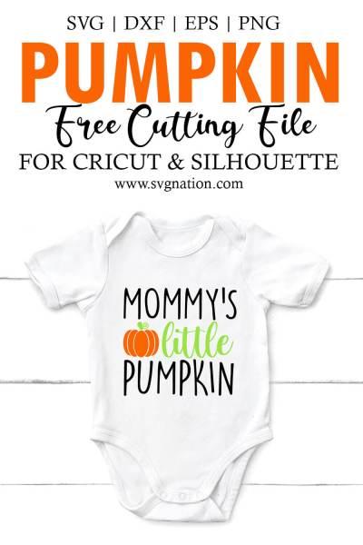 Mommy's Little Pumpkin SVG File