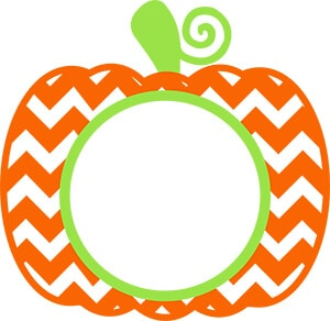 Pumpkin Monogram SVG Cut File