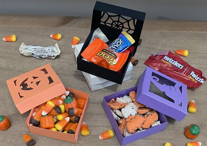 DIY Halloween Treat Boxes with Free SVG