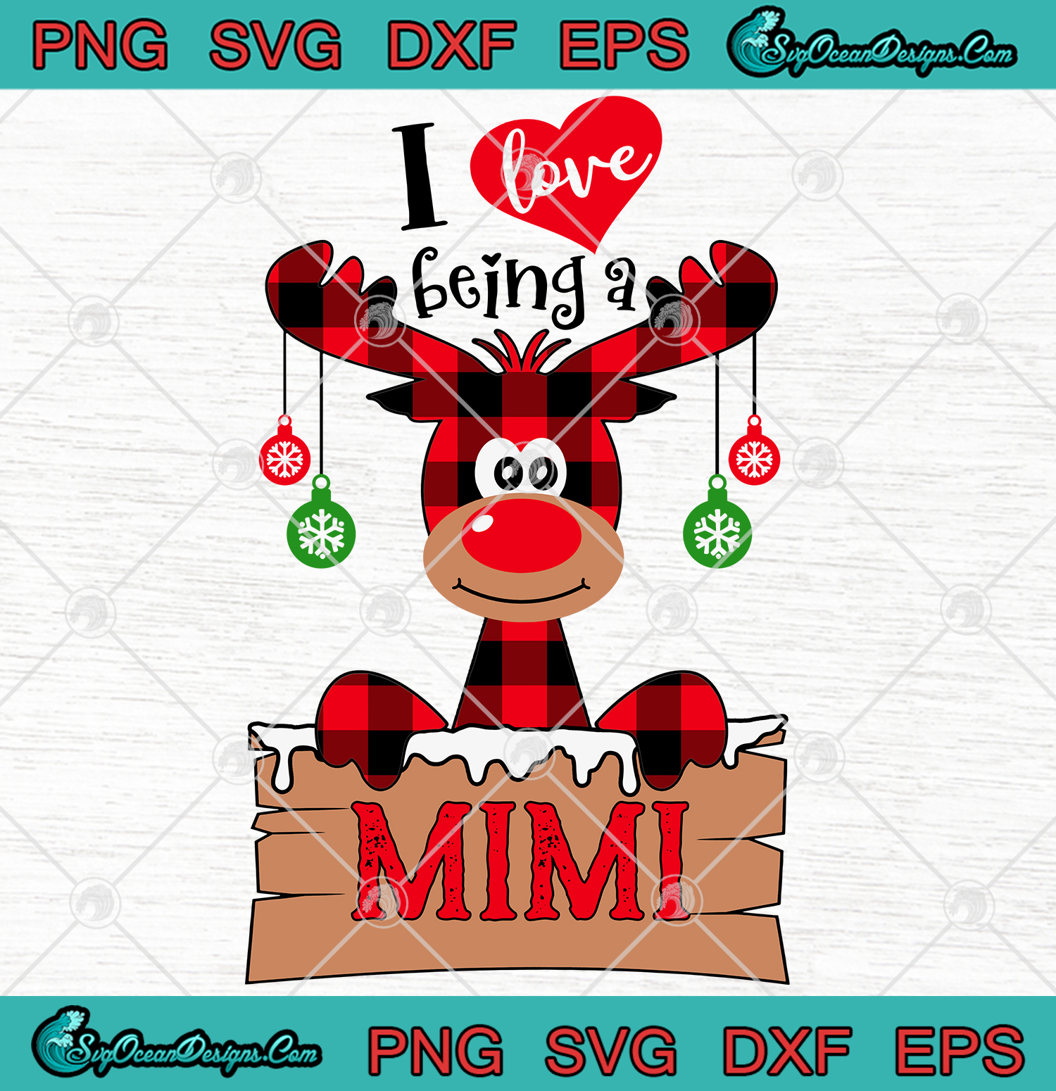 Download I Love Being A Mimi Christmas SVG PNG EPS DXF Digital ...