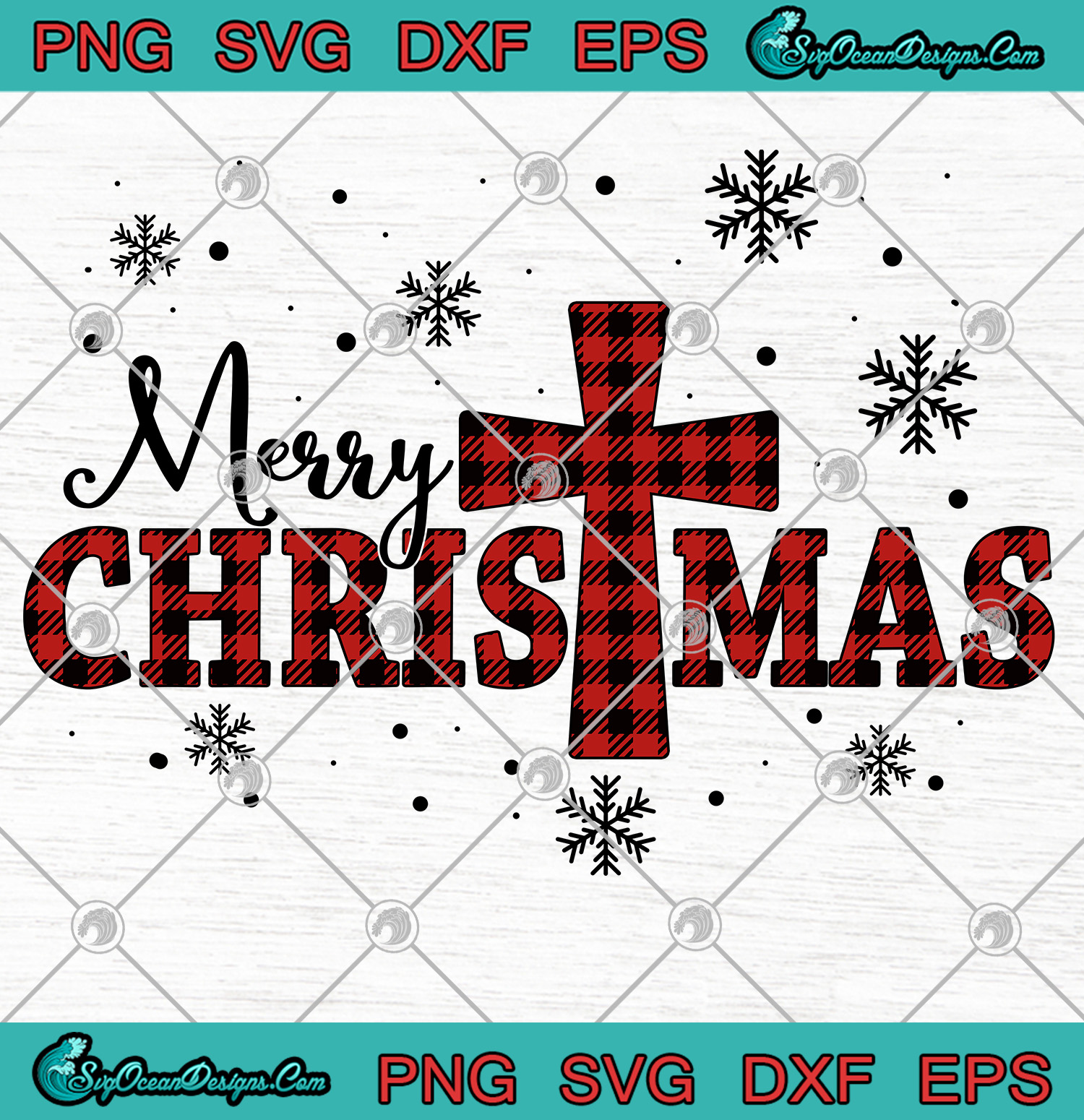 Merry Christmas With Cross Plaid Svg Png Eps Dxf Christmas Cross Svg Png Cricut File Silhouette Svg Designs Digital Download