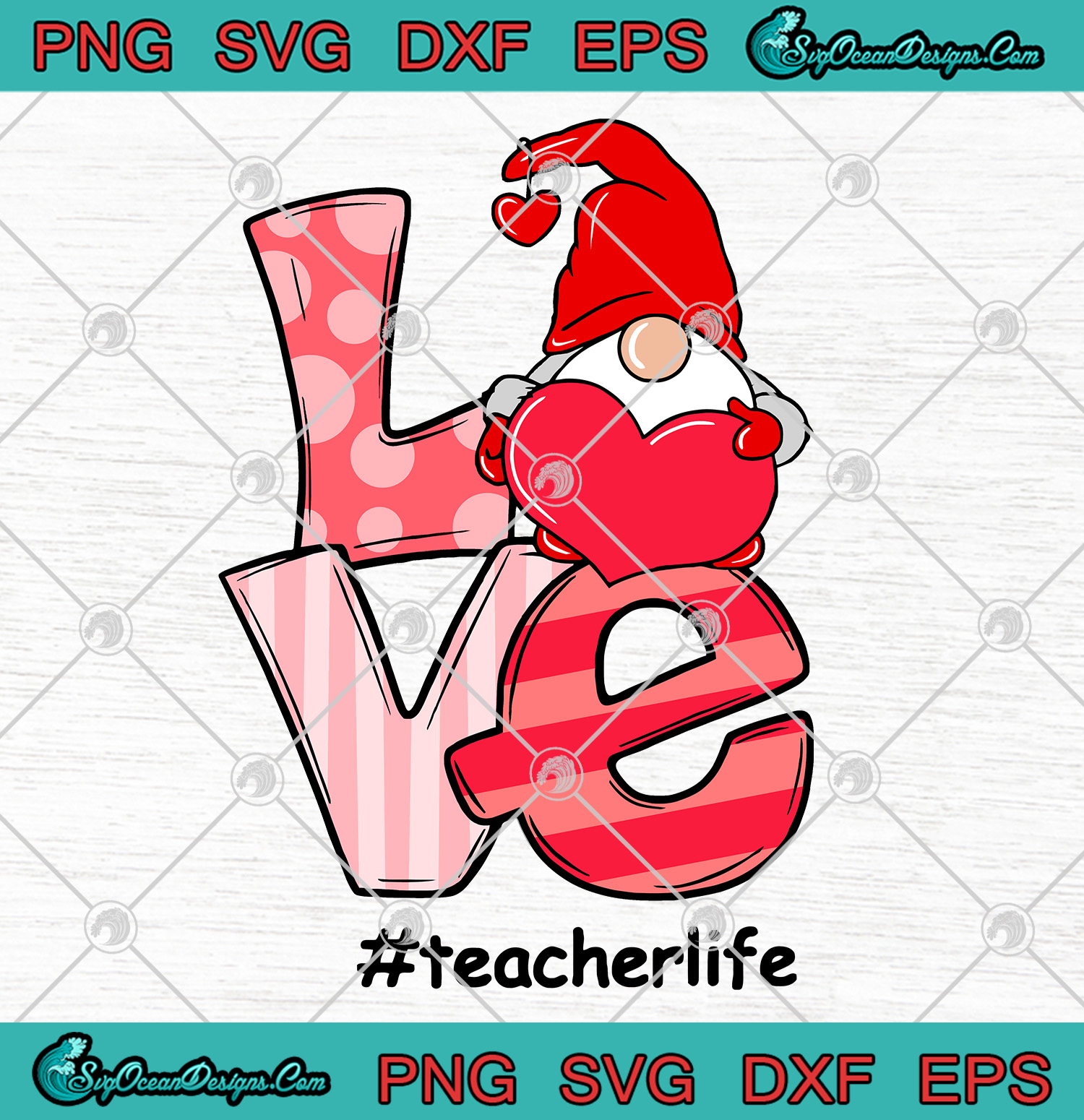 Download Gnome Love First Teacher Life Valentine SVG PNG ...