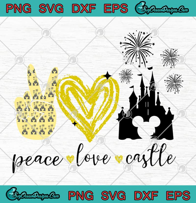 Download Disney Peace Love Castle SVG PNG EPS DXF Cutting File ...