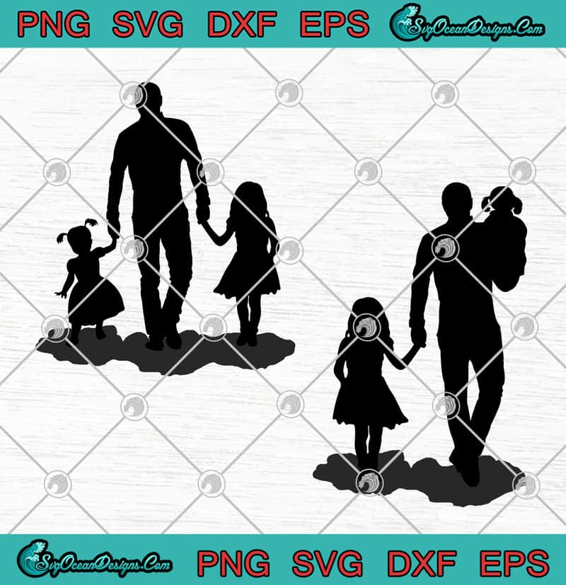 Download Daddy and Daughter Father's Day SVG PNG EPS DXF Cricut ...