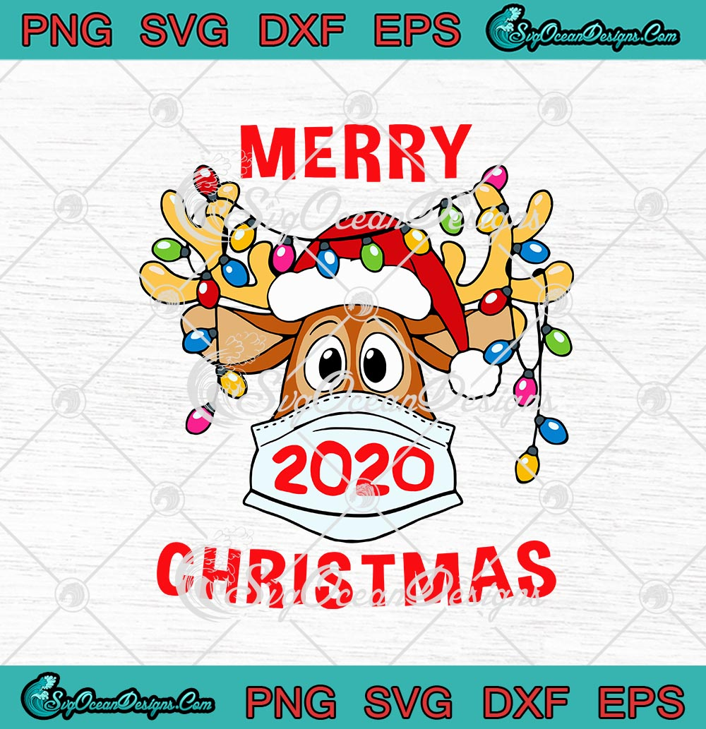 merry christmas 2020 reindeer mask quarantine christmas svg png eps dxf cricut file silhouette art designs digital download merry christmas 2020 reindeer mask quarantine christmas svg png eps dxf cricut file silhouette art
