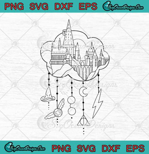 Harry Potter Hogwarts Castle And Items svg cricut
