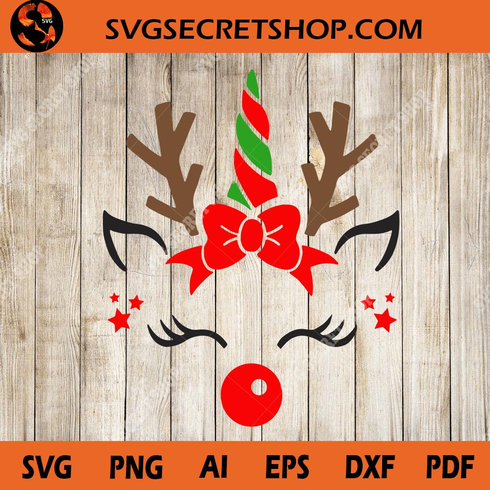 Unicorn Deer Unicorn Svg Desgin Unicorn Christmas Svg Svg Secret Shop
