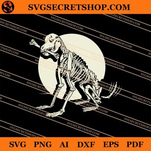 Dog Skeleton SVG