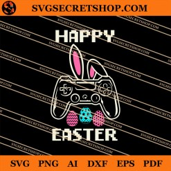 Video Game Bunny Happy Easter SVG