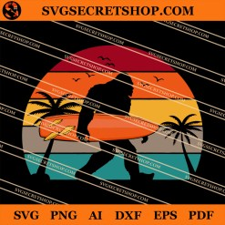 Bigfoot Sasquatch Surf SVG