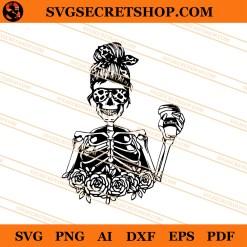 Mom Skeleton Coffee SVG