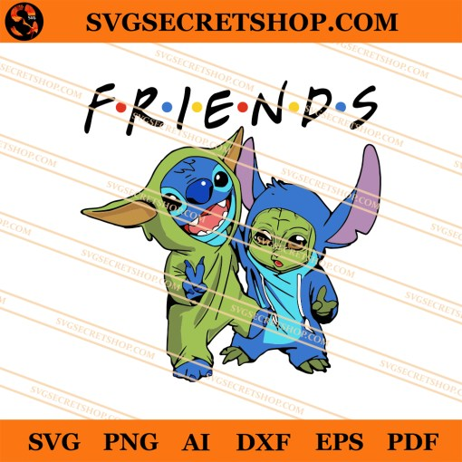 Stitch And Baby Yoda SVG