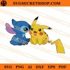 Stitch And Pikachu SVG