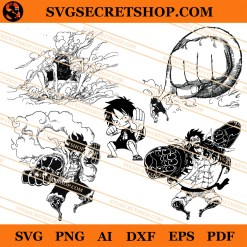 Luffy Gear Forms SVG