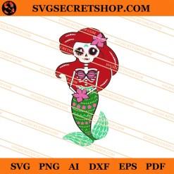 Sugar Skull Mermaid SVG