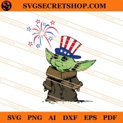 Baby Yoda Firework 4th Of July SVG