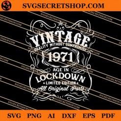 Vintage 1971 Birthday SVG