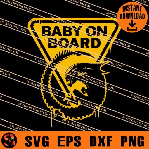 Alien Larvae Baby On Board SVG