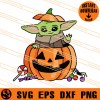 Baby Yoda With Pumpkin SVG