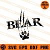 Bear Claw SVG
