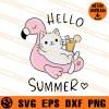 Cat Hello Summer SVG
