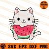 Cats Eat Watermelon SVG