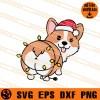 Corgi Christmas SVG