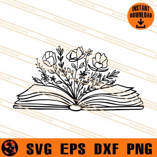 Floral Book SVG