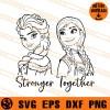 Frozen Stronger Together SVG