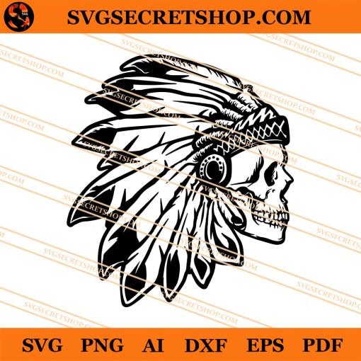 Native Skull SVG