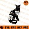 floral Black cat SVG
