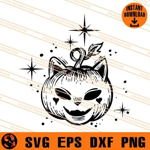 pumpkin cat SVG