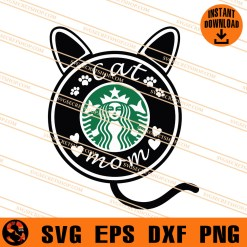 Cat Mom Coffee SVG