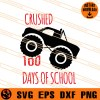 Crushed 100 days Of School SVG