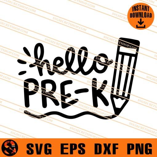 Hello Pre-K SVG