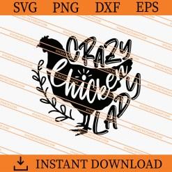 Crazy Chicken Lady SVG