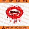 Drip vampire lips SVG
