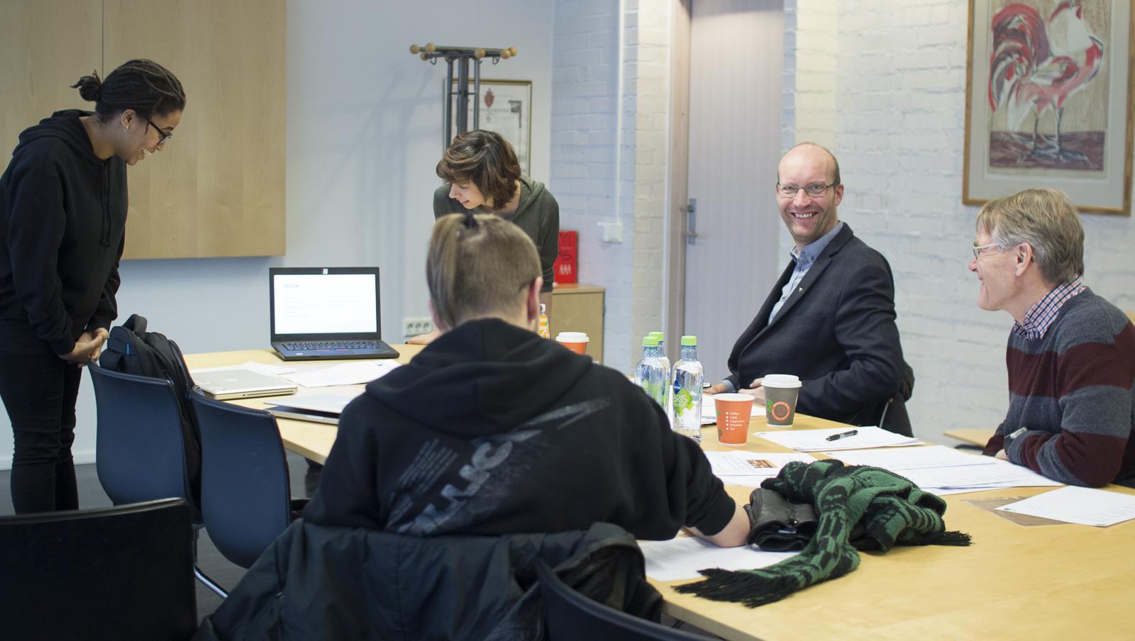 Ekstern jury: Petter Skotland, Erik Vea, og Andreas (praktikat på Sørum bibliotek)