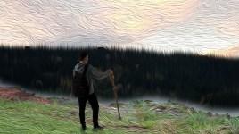 Adapsjon fra maleri av Christian_Kittelsen til fotografi.