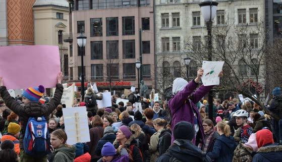 klimastreik,barn,ungdom,paroler,demonstrasjon,oslo