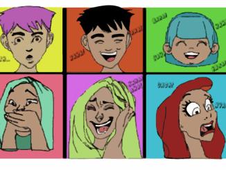 ansikter,tegneserie