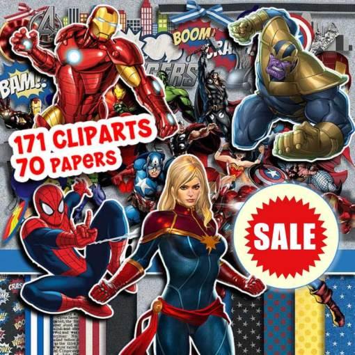 Avengers Clipart, Avengers Paper Avengers PNG, Avengers Digital Paper, Super Hero Clipart, SuperHero PNG