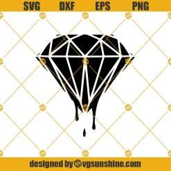 Dripping Diamond Svg, Crystal Svg, Gemstone Svg, Diamond Svg