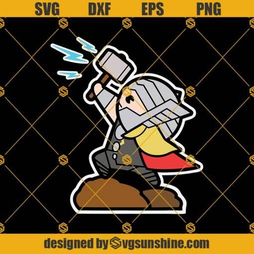 Thor Mjolnir Hammer Cute Svg, Thor Mjolnir Hammer Svg, Thor Svg