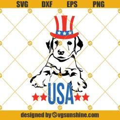 Labrador Dog 4th of July Svg
