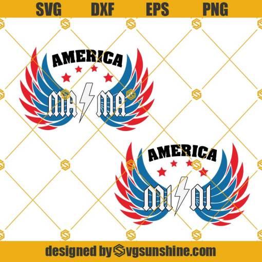 American Mama Svg, American Mini Svg