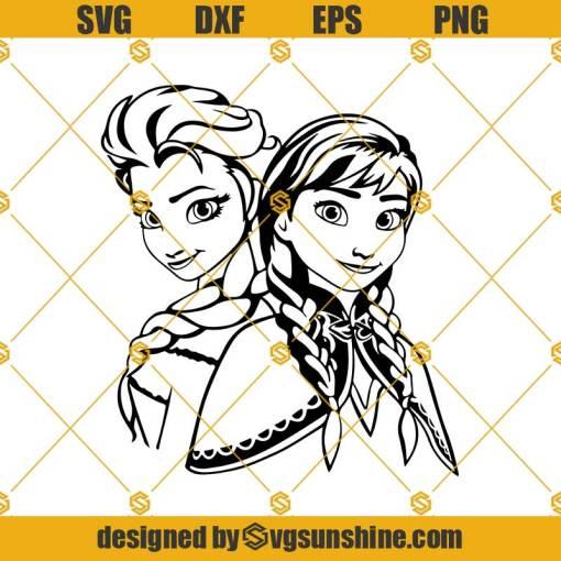 Frozen Princess Anna And Elsa Svg, Frozen Svg