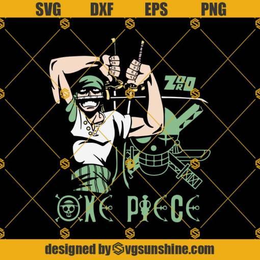 One Piece Zoro Anime Svg, One Piece Svg