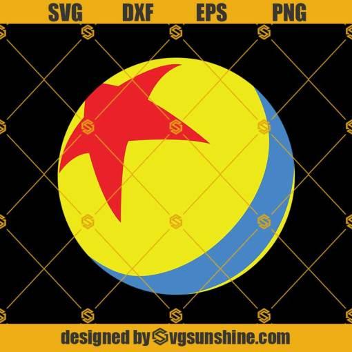 Pixar Luxo Ball Disney Svg, Star Ball Svg, Disney Svg